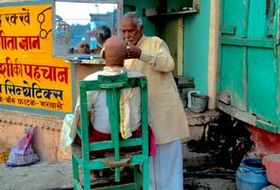 Barber on the Ganges Ghat