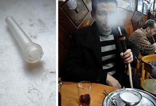 SOUVENIRS AND POSTCARDS FROM A TRIP: Al-Nawfara café, Damascus, Syria