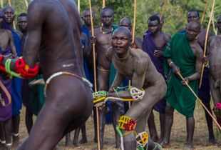 Donga - Stick Fighting Among the Tribes are a Way of Settling Disagreements and Attracting Women,  Southern Omo Valley, Ethiopia, 2016
