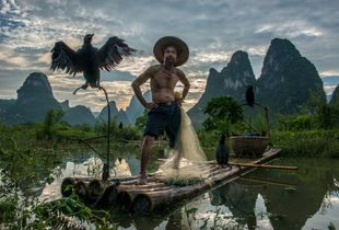 Cormorant fisherman in Guilin China
