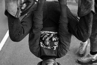 Upside-down kiddo