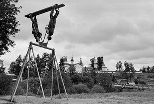 Swing. Ferapontovo village, Vologda region, Russia, 2003.