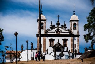 Church of Bom Jesus of Matozinho, baroque church by Aleijadinho.