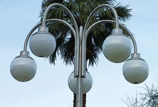 Street lamp, Palm Springs