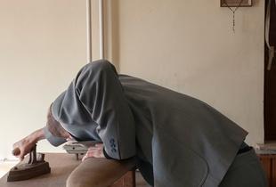 Jakob ironing