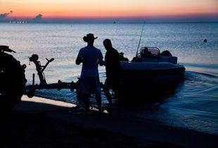 L'alba prima della pesca