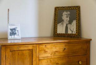 Bedroom of  the Morandi's house at Grizzana-Morandi