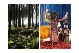 """Bear Girl in forest & Bear Girl in bedroom"""