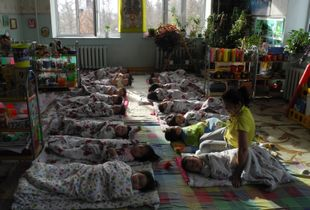 naptime at the kindergarten, Mongolia