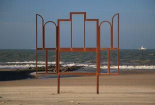 Drieluik met zicht op zee, Oostende