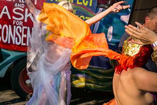 Orange Cape, Coney Island. © Paul Kessel. Chosen for the LensCulture Street Photography Awards Top 100.
