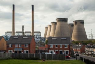 Ferrybridge Power Station and Knottingley,