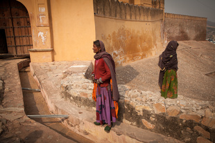 The guardians of Amber Fort.