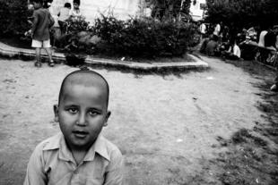 Afghan boy. Viktoria Square, Athens.