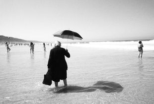 the old lady with the umbrella
