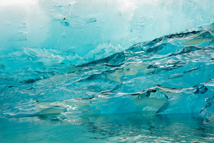 Andrea Hamilton - Luminous Icescapes Alaska No. 3 - 2013 - Transparency in light box - 26.3 x 39.3 in. (67 x 100 cm) - Edition of 6