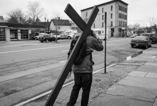 Man Bearing A Cross, Kingston, NY.