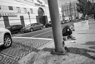 corner, Chinatown, Los Angeles.
