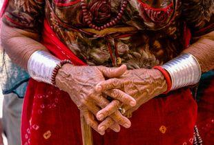 Village Elder's Hands, Thar Desert Rajasthan India
