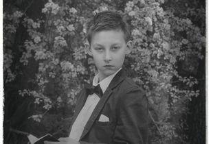 communion boy portrait