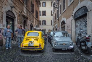 Vintage Cars In Rome