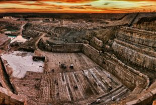 Limestone Quarry at Dawn