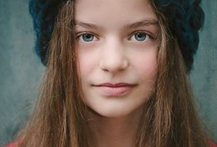Girl in Blue Hat