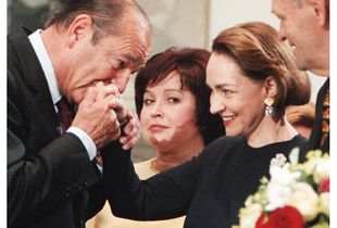 President Chirac welcomes Aline and PM Jean Chrétien