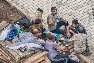 Road workers dinner