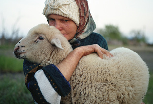 Maria and her lamb