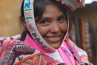 Young Quechua Weaver -- Highland Peru