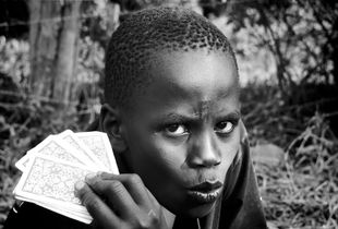 Card Player at Embrace shelter, (Kitale, Kenya)