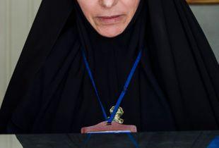 Woman with indigo