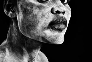 Sudanese Beauty (using white clay). Juror's Pick, LensCulture Portrait Awards 2015.