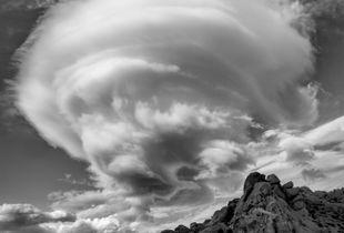 Lenticular Clouds Over Buttermilks, Bishop, CA