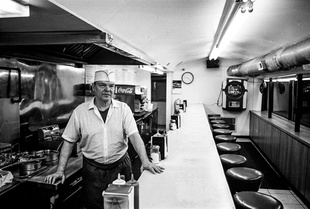 Diner Grill Cook Kenny Coster, waits for the post-bar crowd.
