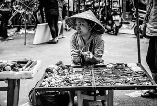Street vendor, Hanoi Vietnam