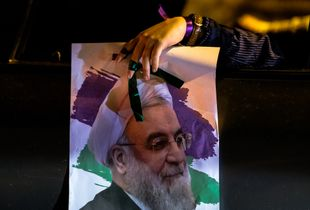 Supporters of Hassan Rouhani in Tehran