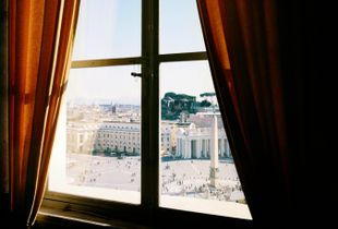 Vatican City State. 2012. View of St. Peter's square from the Apostolic Palace of Sixtus V.