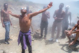 Hot springs at Bogoria, Kenya
