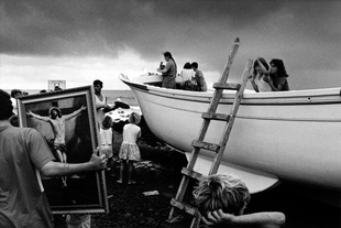 Christening of an artisan fishing boat, island of San Miguel.