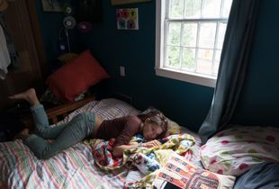 Caroline in Her Childhood Bedroom