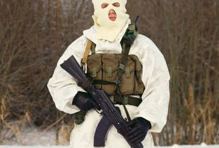 Man in Mask, combatant of the Alpha group, an elite Russian counter-terrorism unit © Maria Gruzdeva.