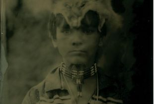 Jackson. Nause Waiwash Tribe.Jackson is a member of one of the four small Indian tribes that remain on Maryland's Eastern Shore. These tribes are not recognized by the Federal Government.  After their removal, no records exist since  all Native Americans were shown as Negro. Jackson represents to me the dignity and the hope that exists in the hearts of all shown in these Tintype images.
