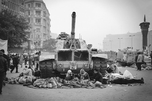 Tahrir Square during the January 25 protests, Cairo, Egypt, 2011. © Nour El Refai. Chosen for the LensCulture Street Photography Awards Top 100.