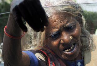 beggar in Varanasi/India