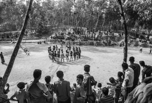 """Football Tourney."" Leda Camp, Teknaf, Bangladesh."