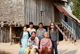 Tep Vana and family