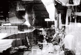 """Double exposure at shuk"""