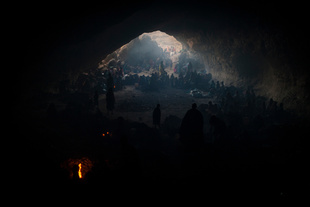 The Cave. Hundreds of women and children live in a cave in order to seek shelter from the continued bombing by the Sudanese government's forces in Central Darfur, Sudan, March 2, 2015. The UN has received reports that as many as 130,000 people have fled to the mountains, and a total of 4.4 million people in Darfur are in need of humanitarian assistance.